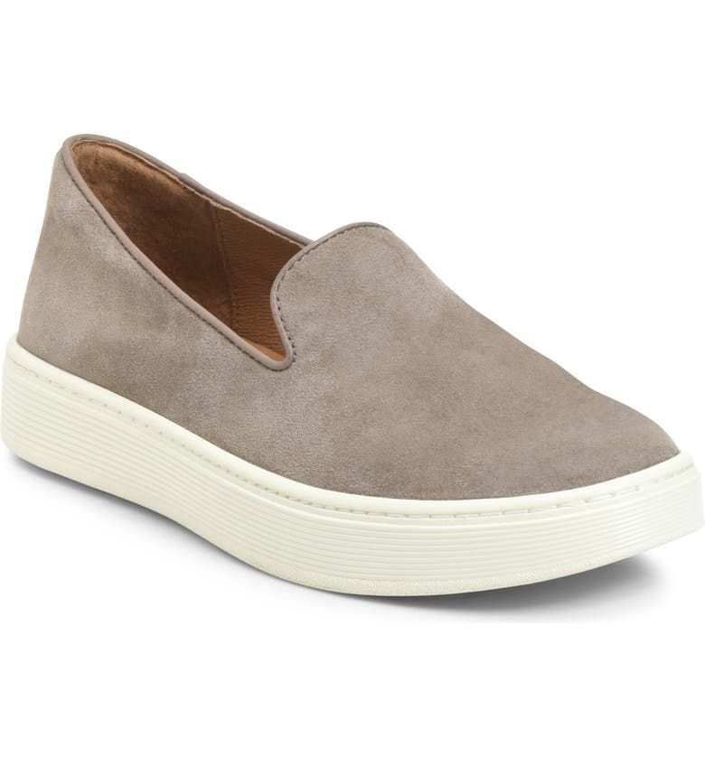 SÖFFT Somers Slip-On Sneaker, Main, color, SNARE GREY SUEDE