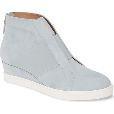 Linea Paolo Amber Wedge Sneaker- Blue
