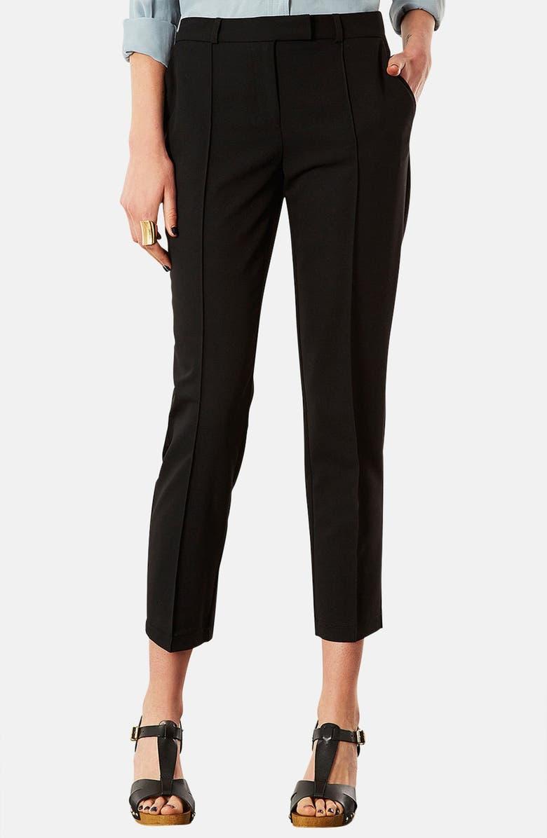TOPSHOP Crop Cigarette Pants, Main, color, 001
