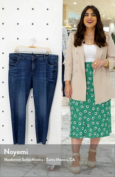 Reese High Waist Straight Leg Ankle Jeans, sales video thumbnail