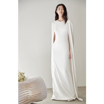 Stella Mccartney F18 Violet Cape Wedding Dress, US / 46 IT - White