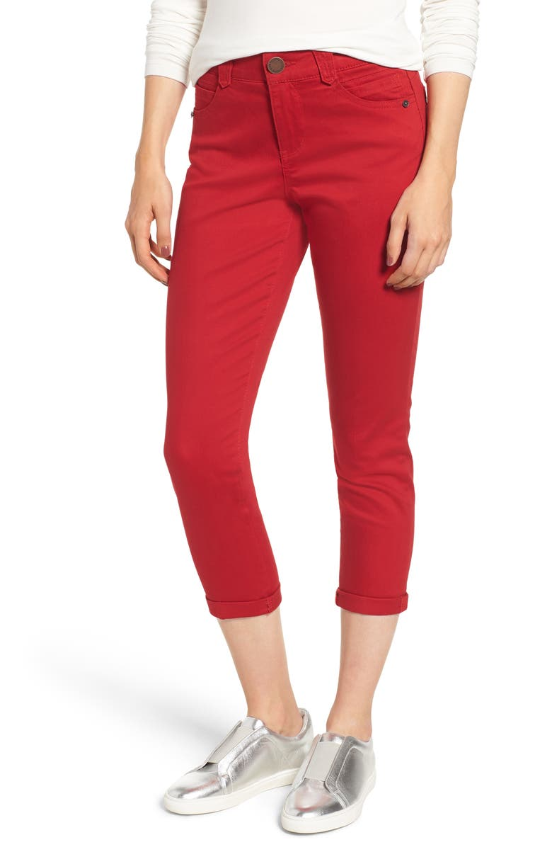 WIT & WISDOM Ab-Solution Crop Skinny Pants, Main, color, TOMATO
