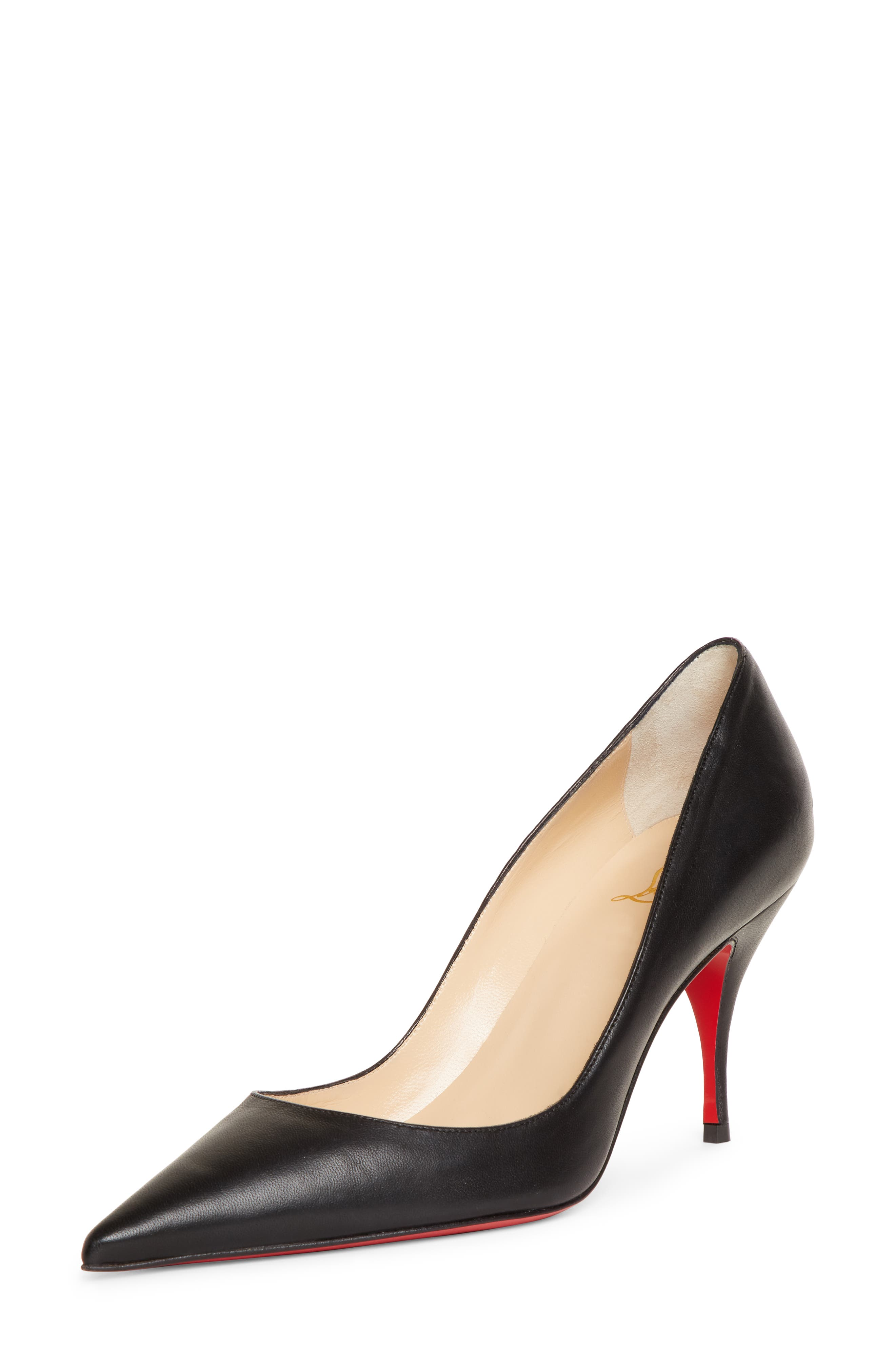 Clare Pointy Toe Pump, Main, color, BLACK LEATHER