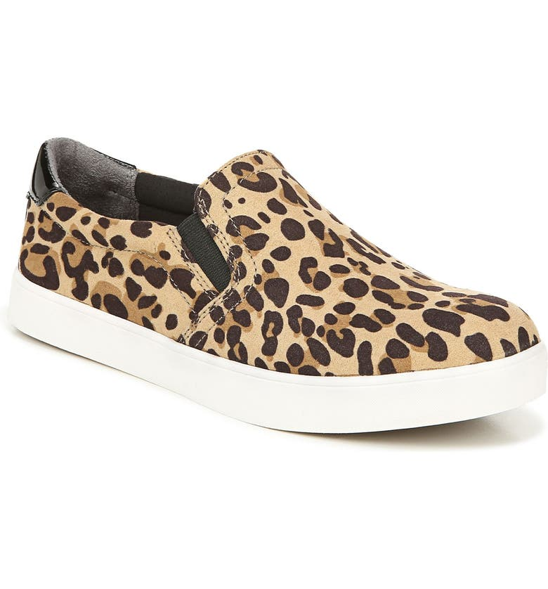 DR. SCHOLL'S Madison Slip-On Sneaker, Main, color, TAN/ BLACK LEOPARD FABRIC