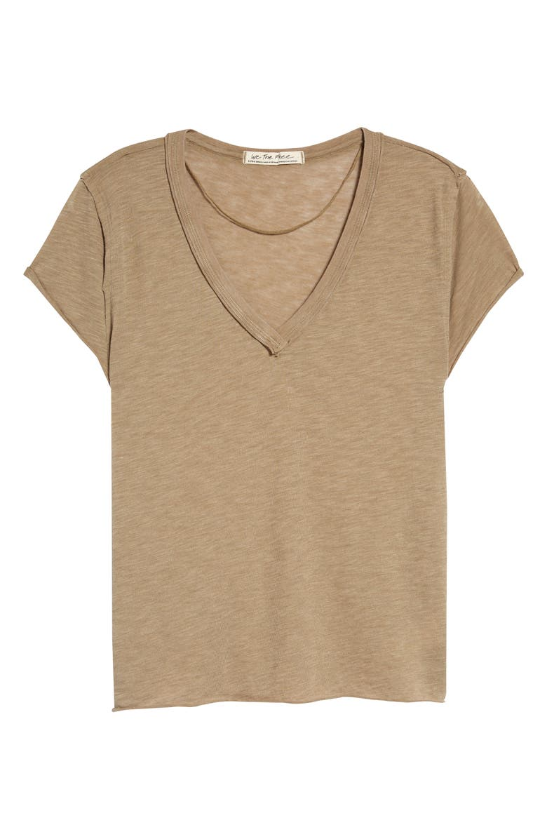 FREE PEOPLE Kaylen Cotton Blend T-Shirt, Main, color, SURF COMBO