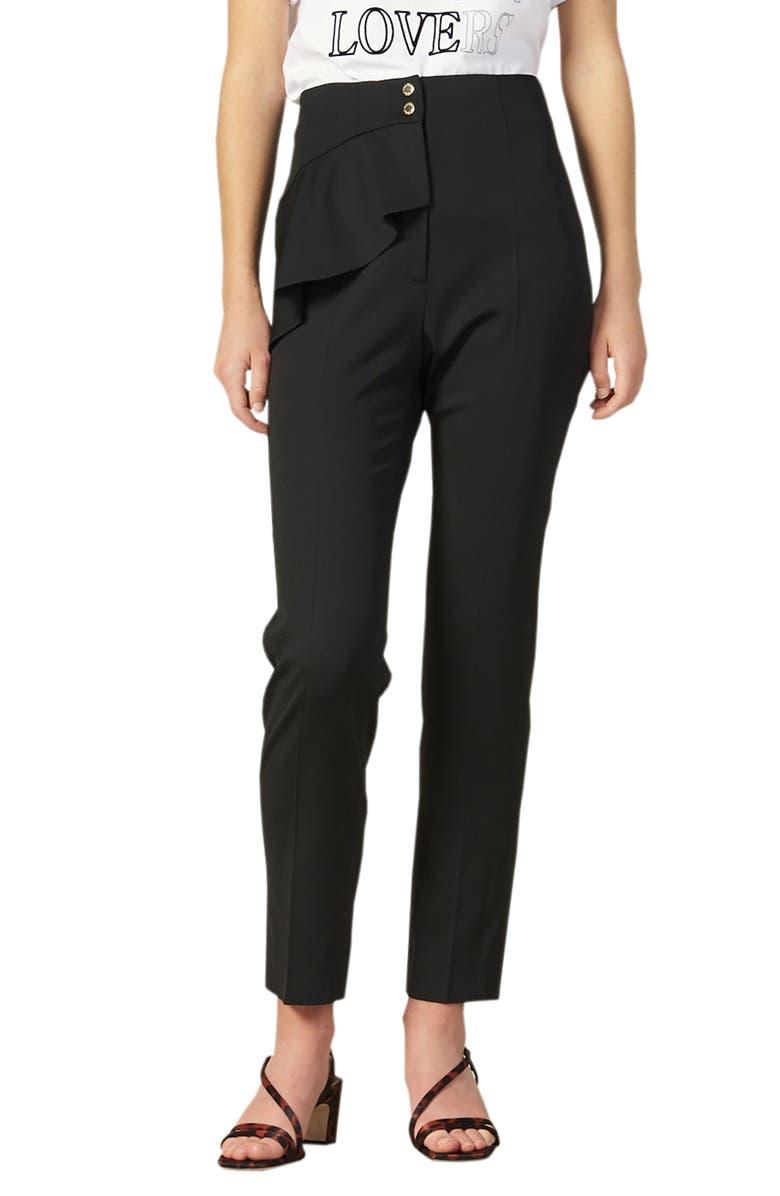 SANDRO Jani Straight Leg Pants, Main, color, BLACK