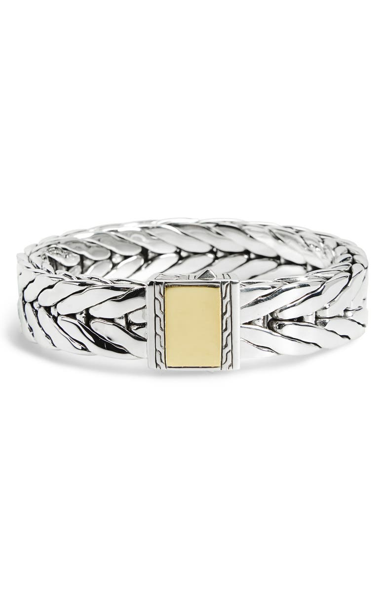 JOHN HARDY Men's Modern Chain Extra Large Chain Bracelet, Main, color, SILVER/ GOLD