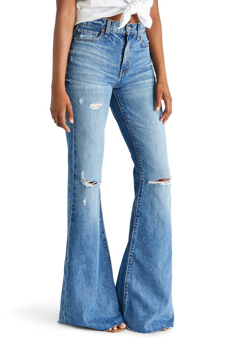 ÉTICA Nina High Waist Flare Jeans, Main, color, 420