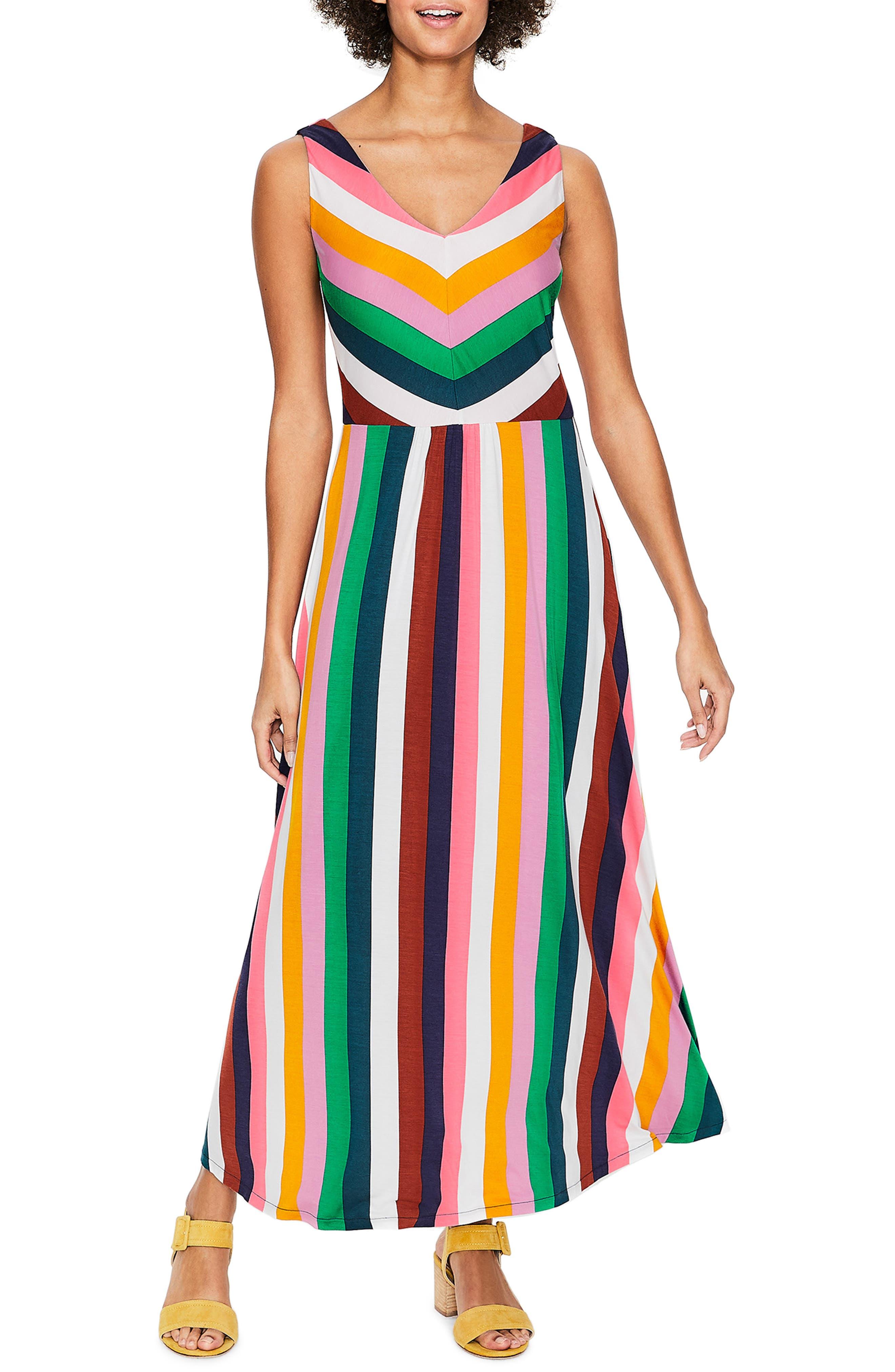 Petite Boden Octavia Jersey Midi Dress, Ivory