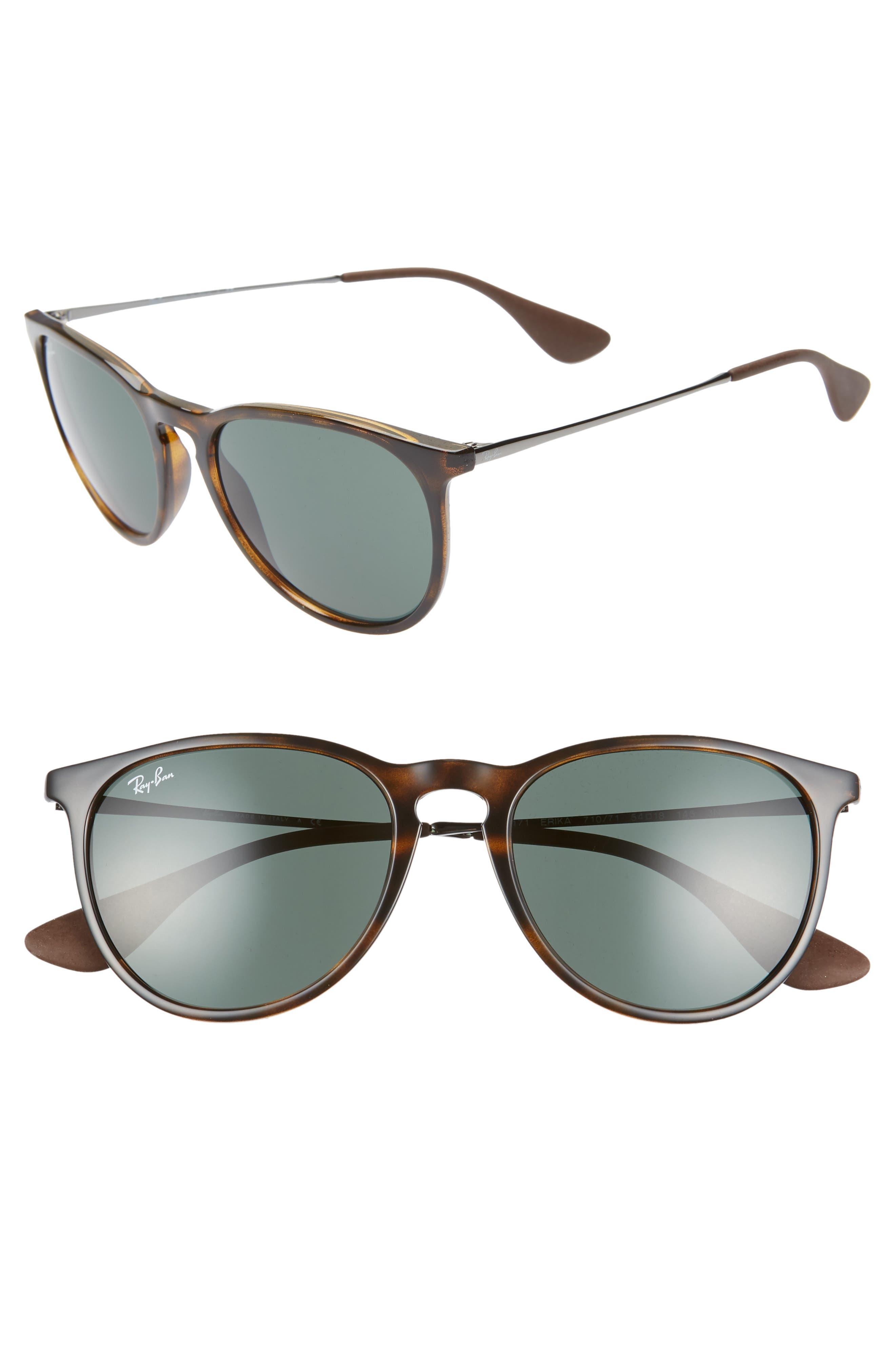 Ray-Ban Erika Classic 5m Sunglasses - Lite Havana/ Green Solid