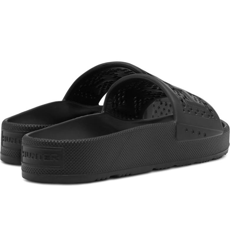 HUNTER Original Logo Strap Slide Sandal, Main, color, 001