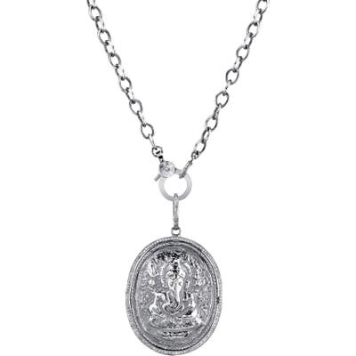Sheryl Lowe Ganesh Coin Pendant Necklace