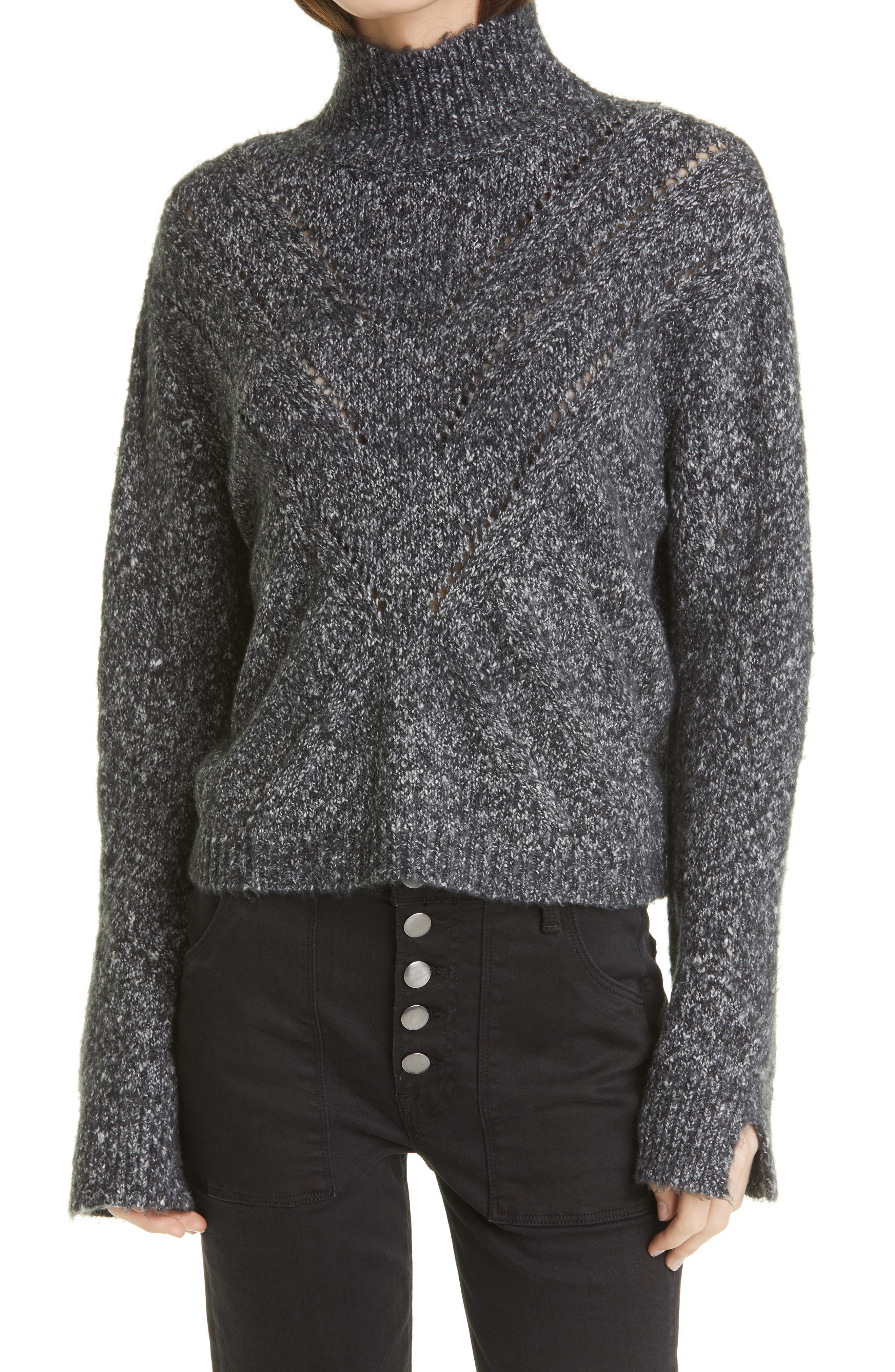 Tina Stitch Turtleneck Sweater