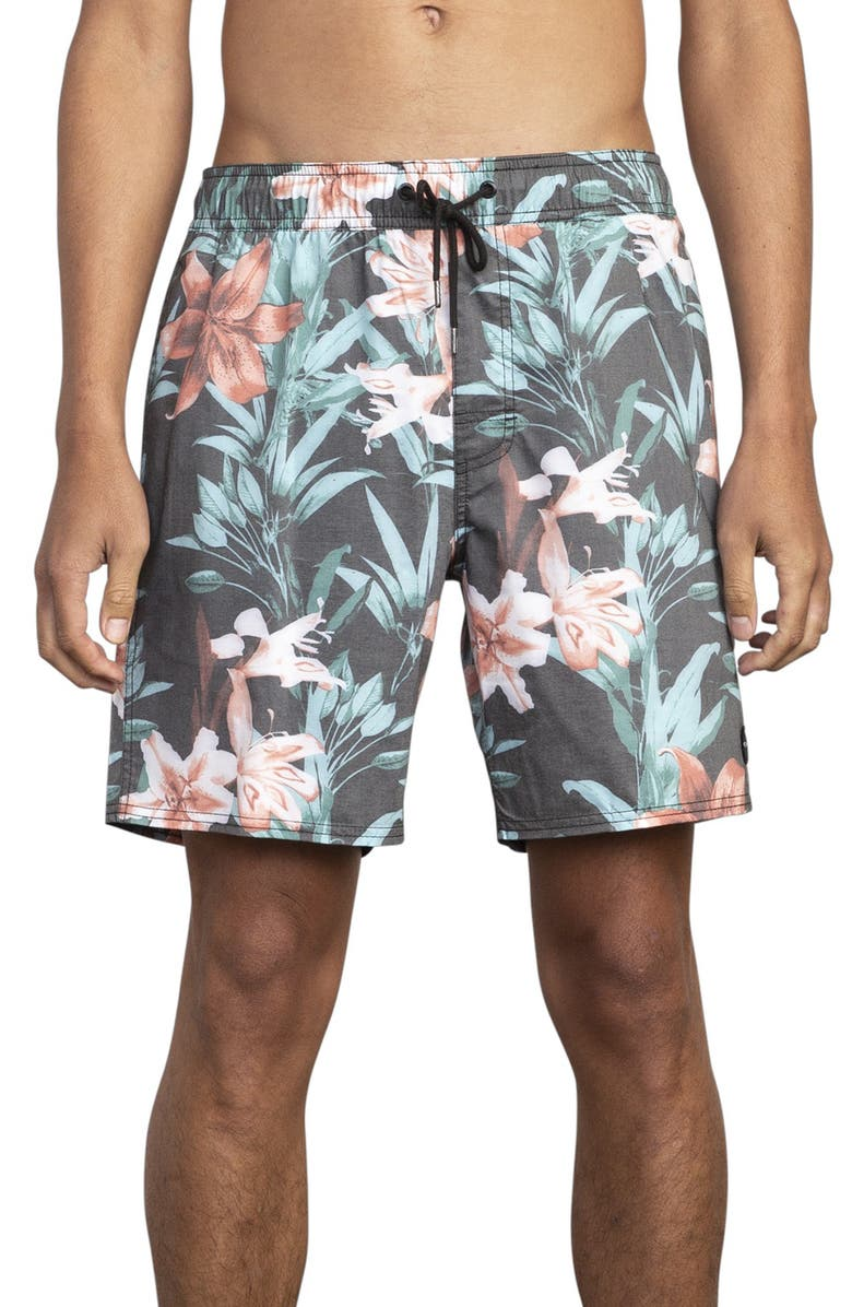 RVCA Montague Swim Trunks, Main, color, 001