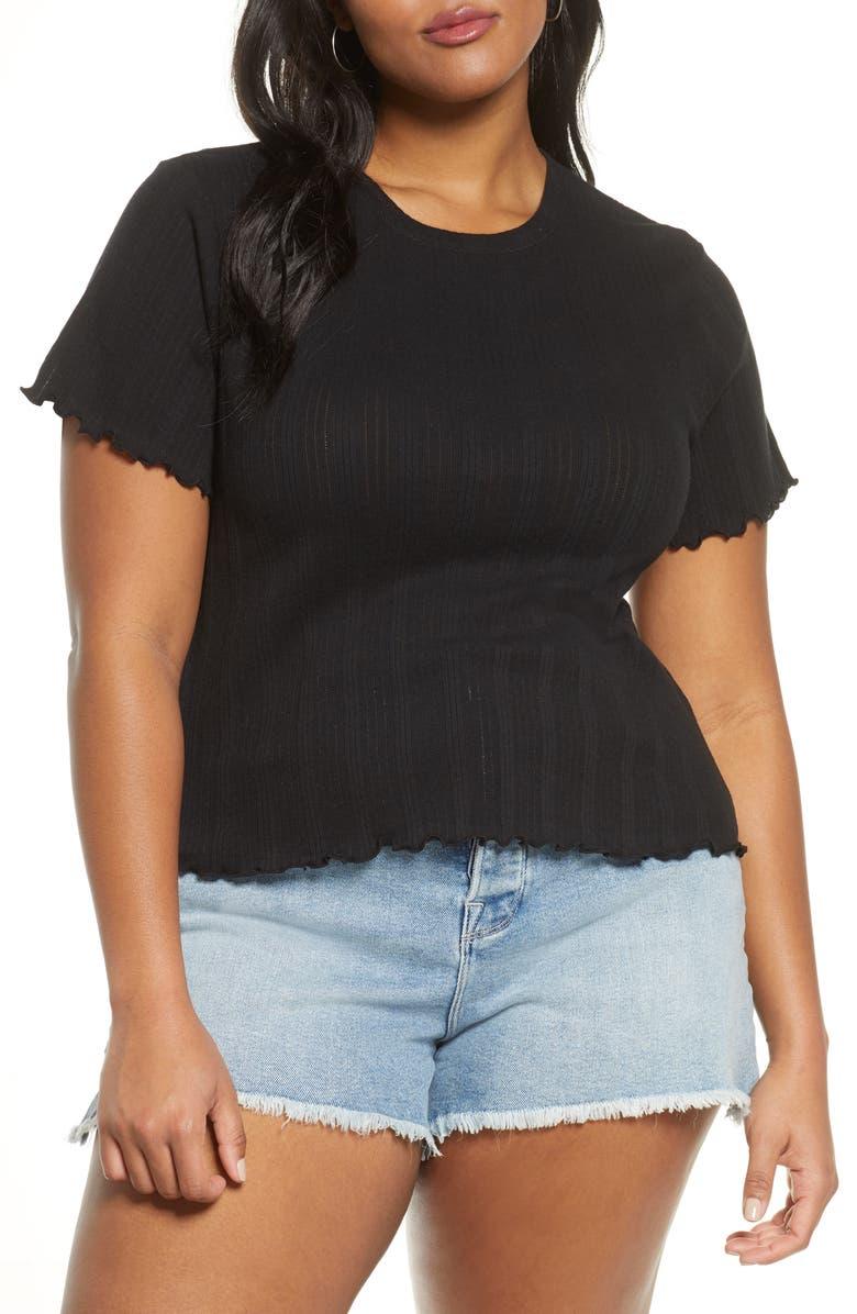 BP. Lettuce Edge T-Shirt, Main, color, 001