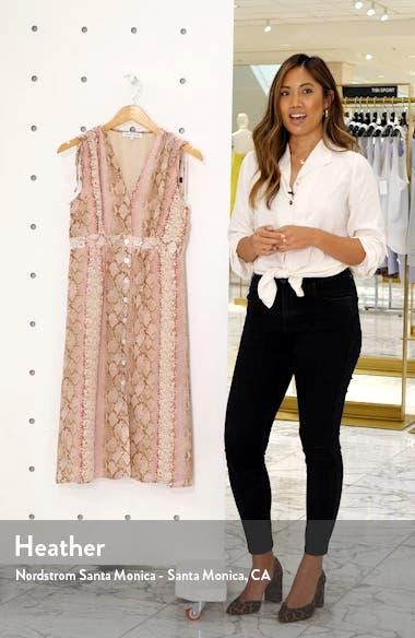 Spencer Python Print Button Front Dress, sales video thumbnail