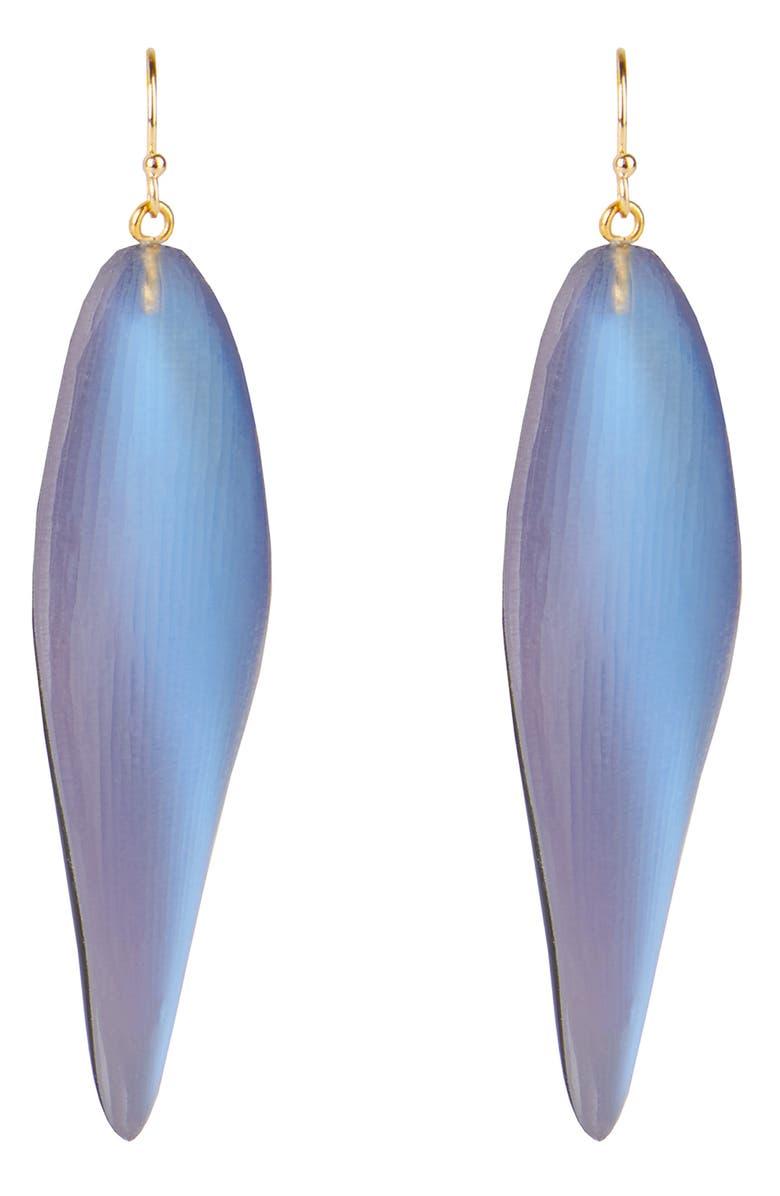 ALEXIS BITTAR Long Leaf Drop Earrings, Main, color, 400