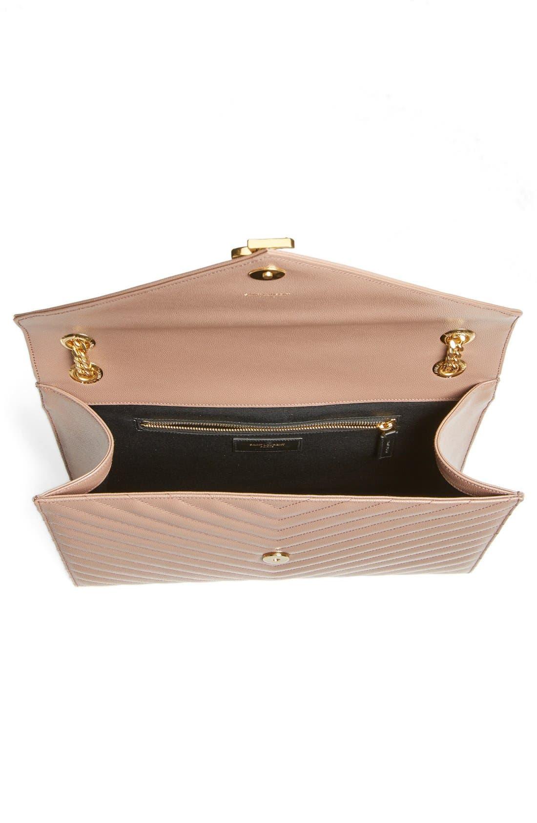 ,                             'Large Monogram' Grained Leather Shoulder Bag,                             Alternate thumbnail 41, color,                             650