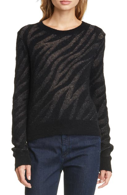 Rag & Bone Sweaters GERMAIN METALLIC ZEBRA JACQUARD SWEATER