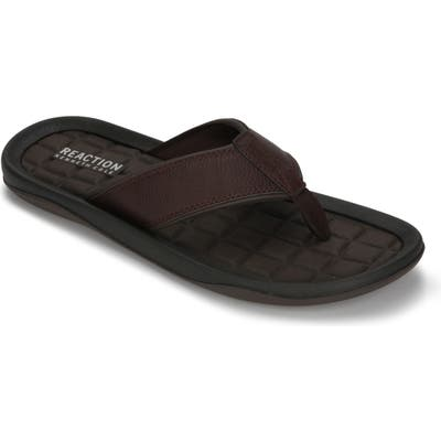 Reaction Kenneth Cole Four Sandal Flip Flop, Brown