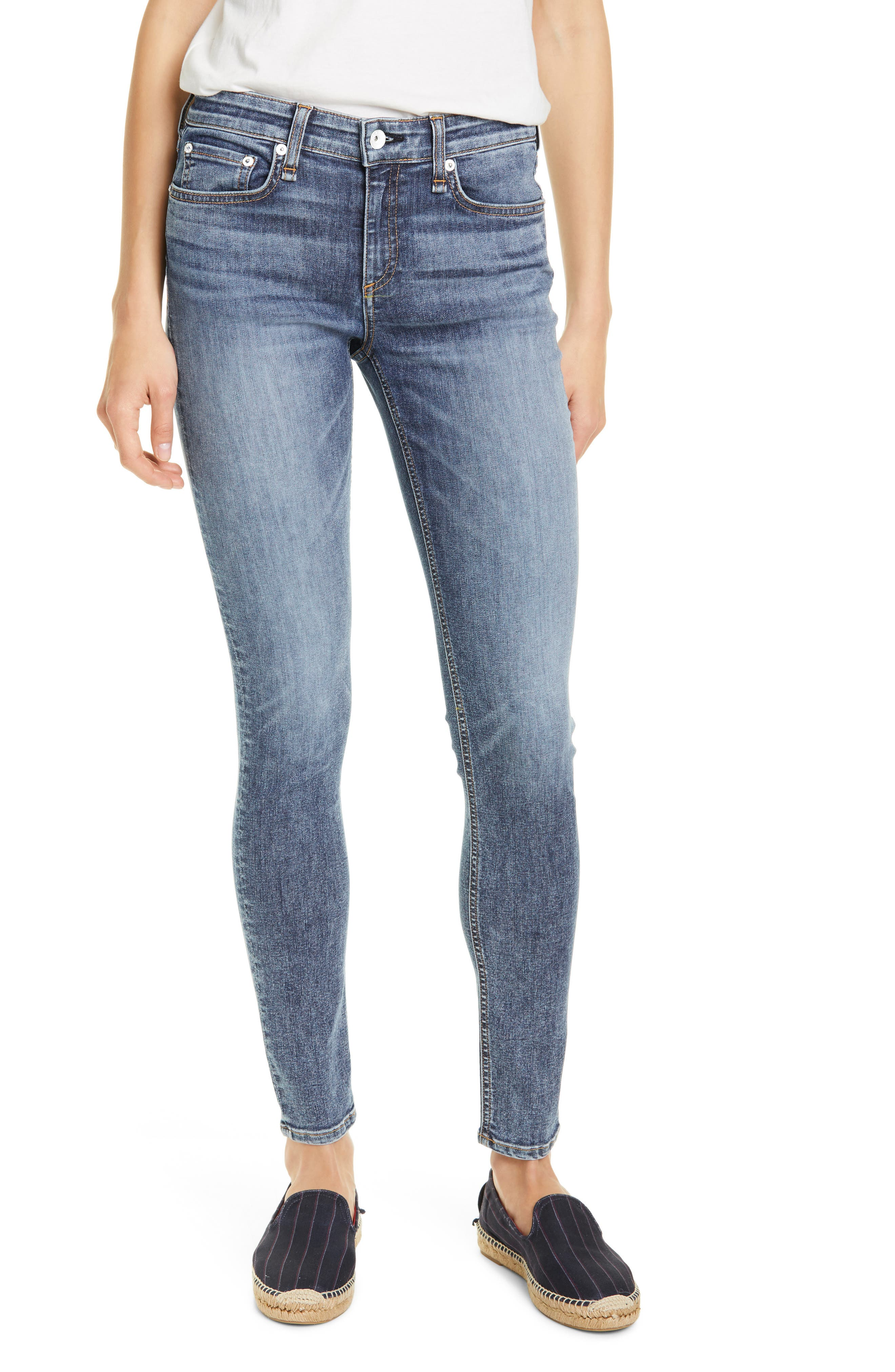 Women's Rag & Bone Cate Skinny Jeans,  31 - Blue