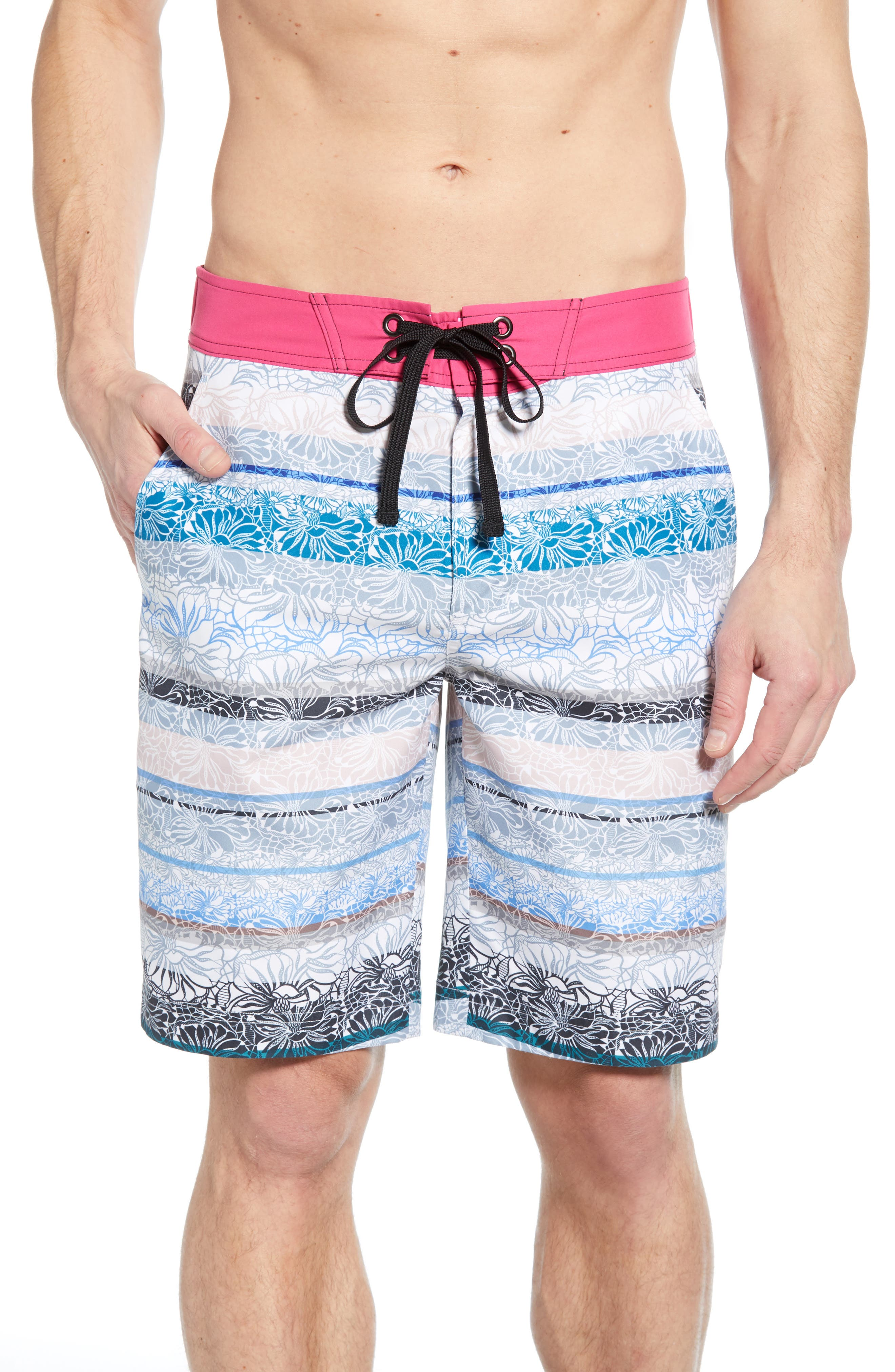 Robert Graham Pillars Board Shorts, Blue