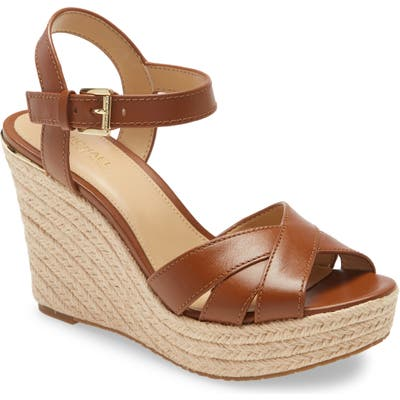 Michael Michael Kors Suzette Platform Wedge Sandal, Brown