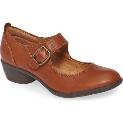 Comfortiva Quanita Mary Jane Pump- Brown