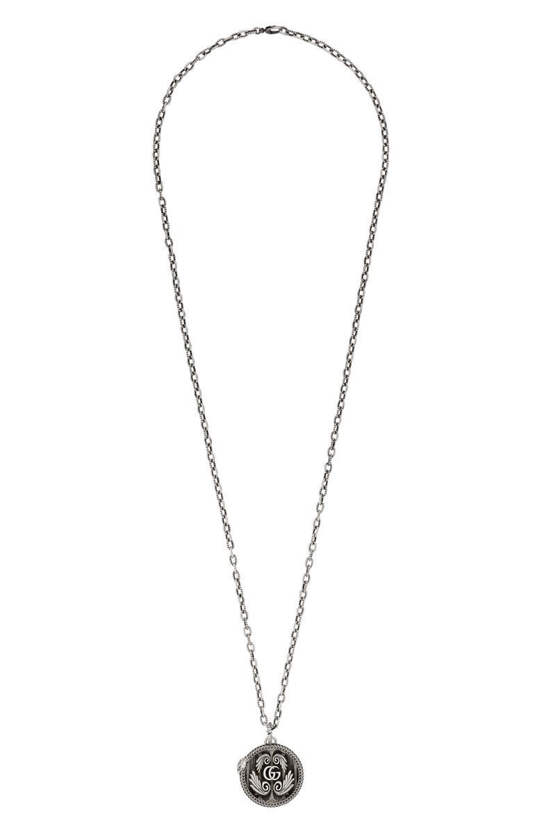 GUCCI Garden Pendant Necklace, Main, color, STERLING SILVER