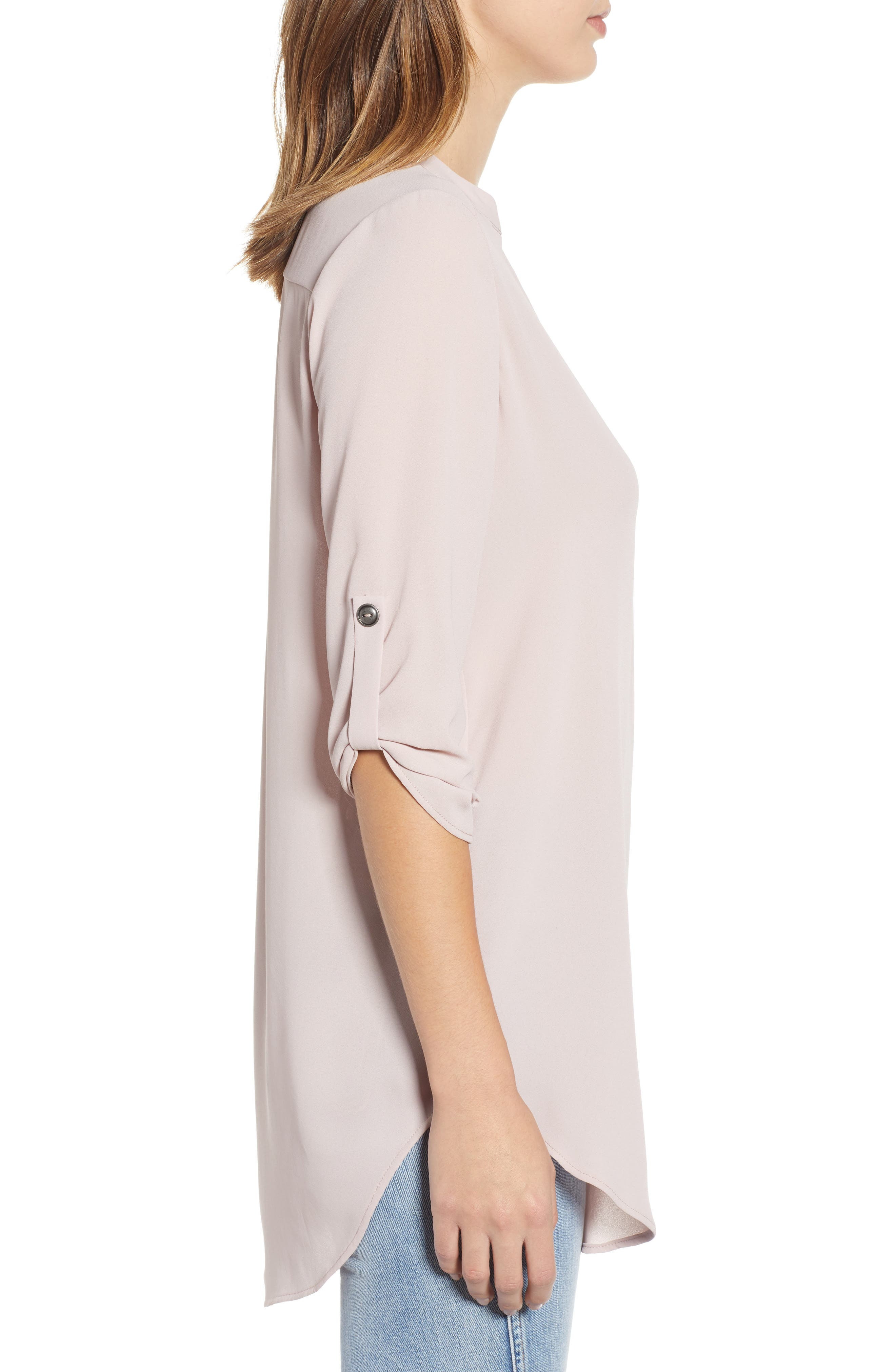 ,                             Perfect Roll Tab Sleeve Tunic,                             Alternate thumbnail 14, color,                             658