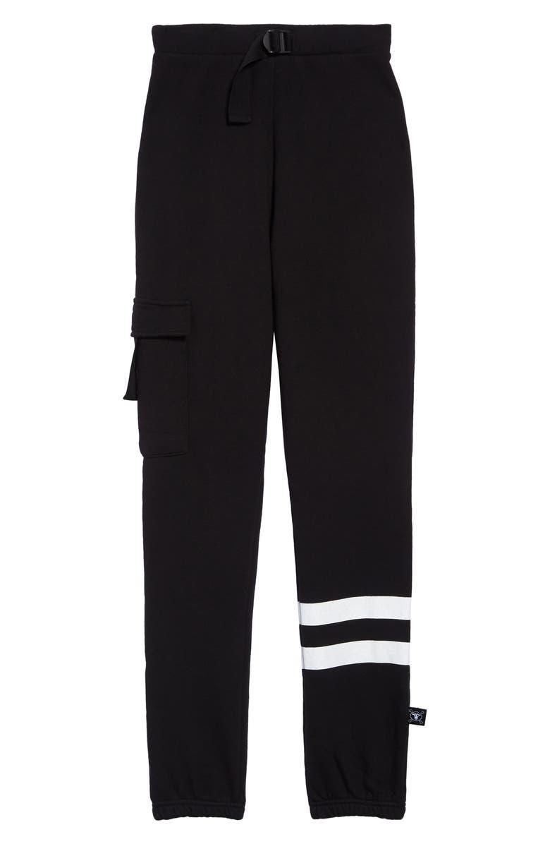 NUNUNU Cargo Sweatpants, Main, color, BLACK