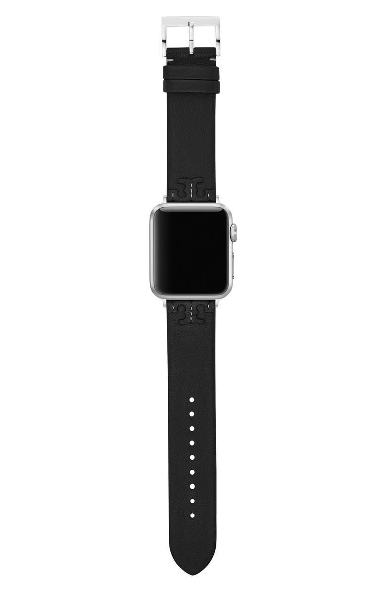 토리버치 Tory Burch McGraw Leather Strap for Apple Watch, 38mmu002F40mm