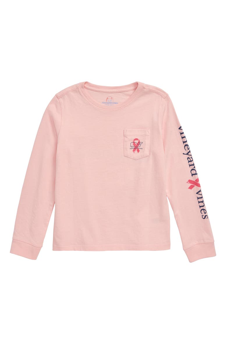 VINEYARD VINES Breast Cancer Awareness Whale Pocket Tee, Main, color, FLAMINGO