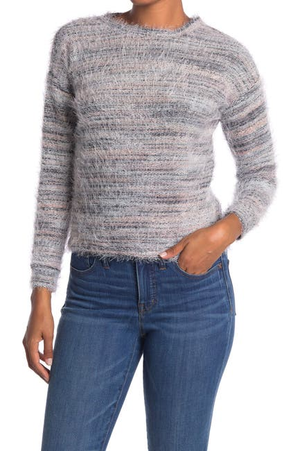 Image of Love by Design Multi Eyelash Knit Scoop Neck Sweater