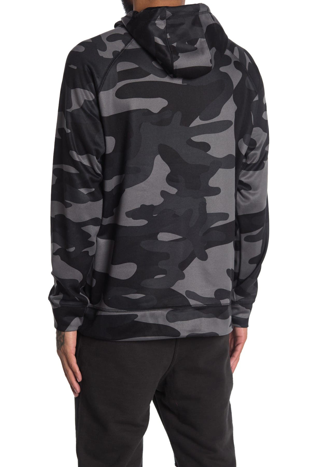 Image of Burnside Camo Print Performance Pullover Hoodie