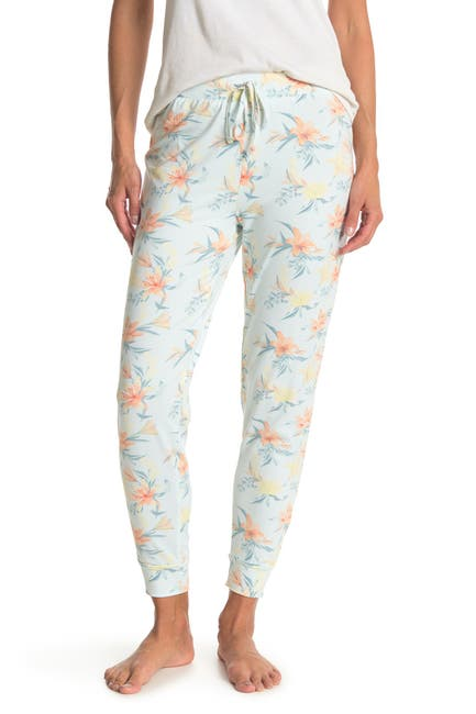 Image of Tahari Relaxed FIt Floral Print Joggers