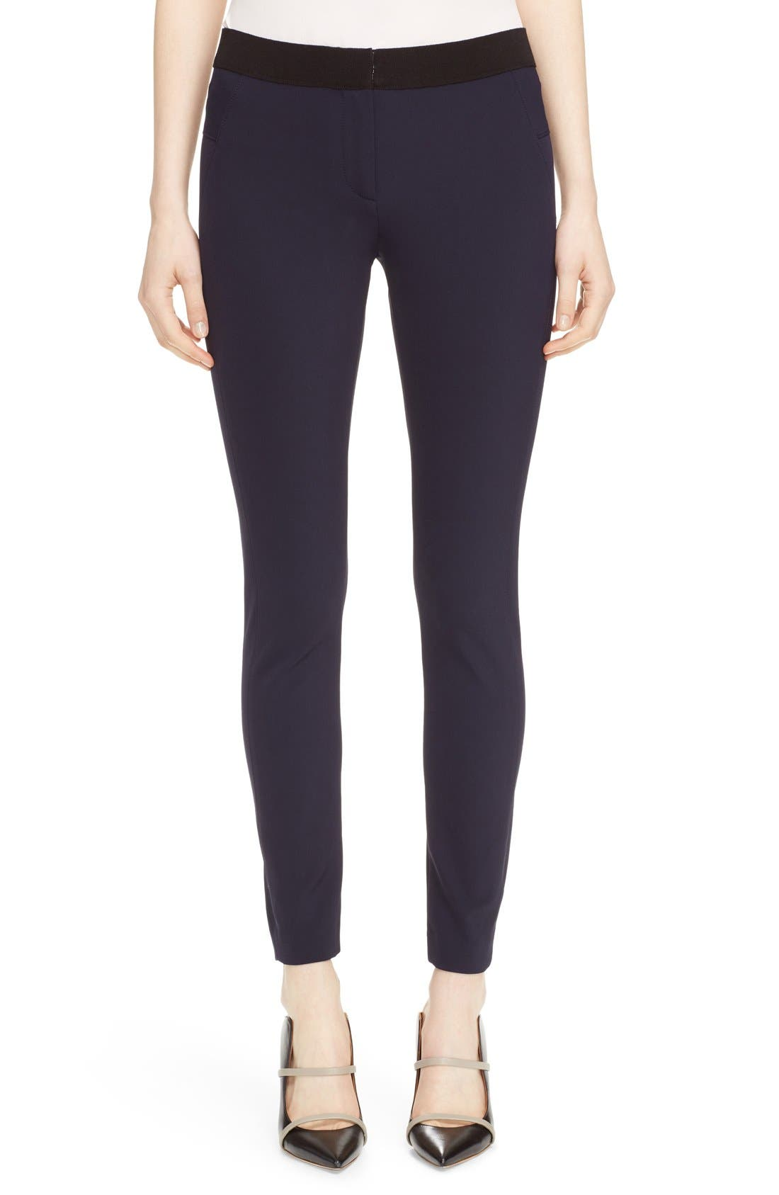 Women's Veronica Beard Scuba Leggings,  4 - Blue