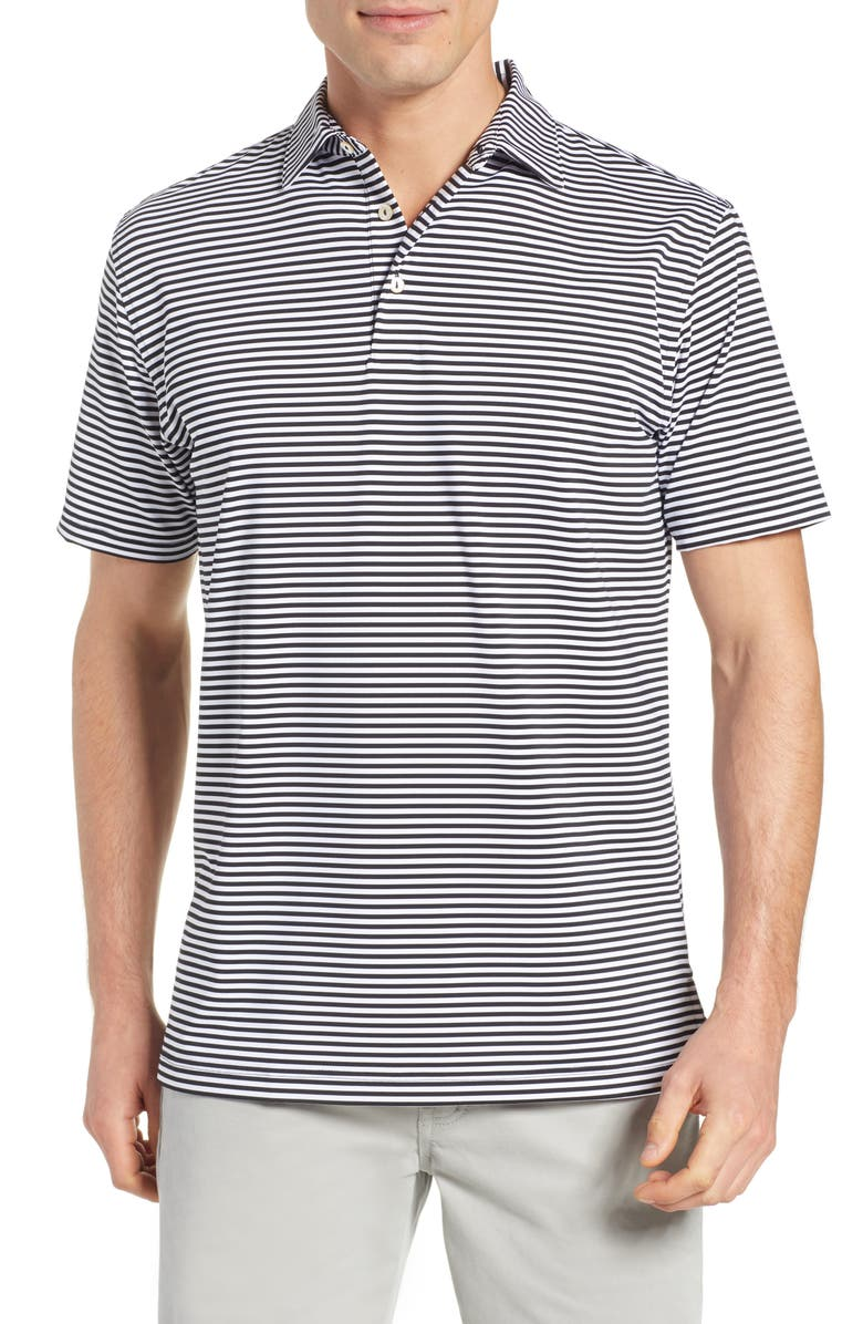PETER MILLAR Stripe Stretch Jersey Performance Polo, Main, color, 004