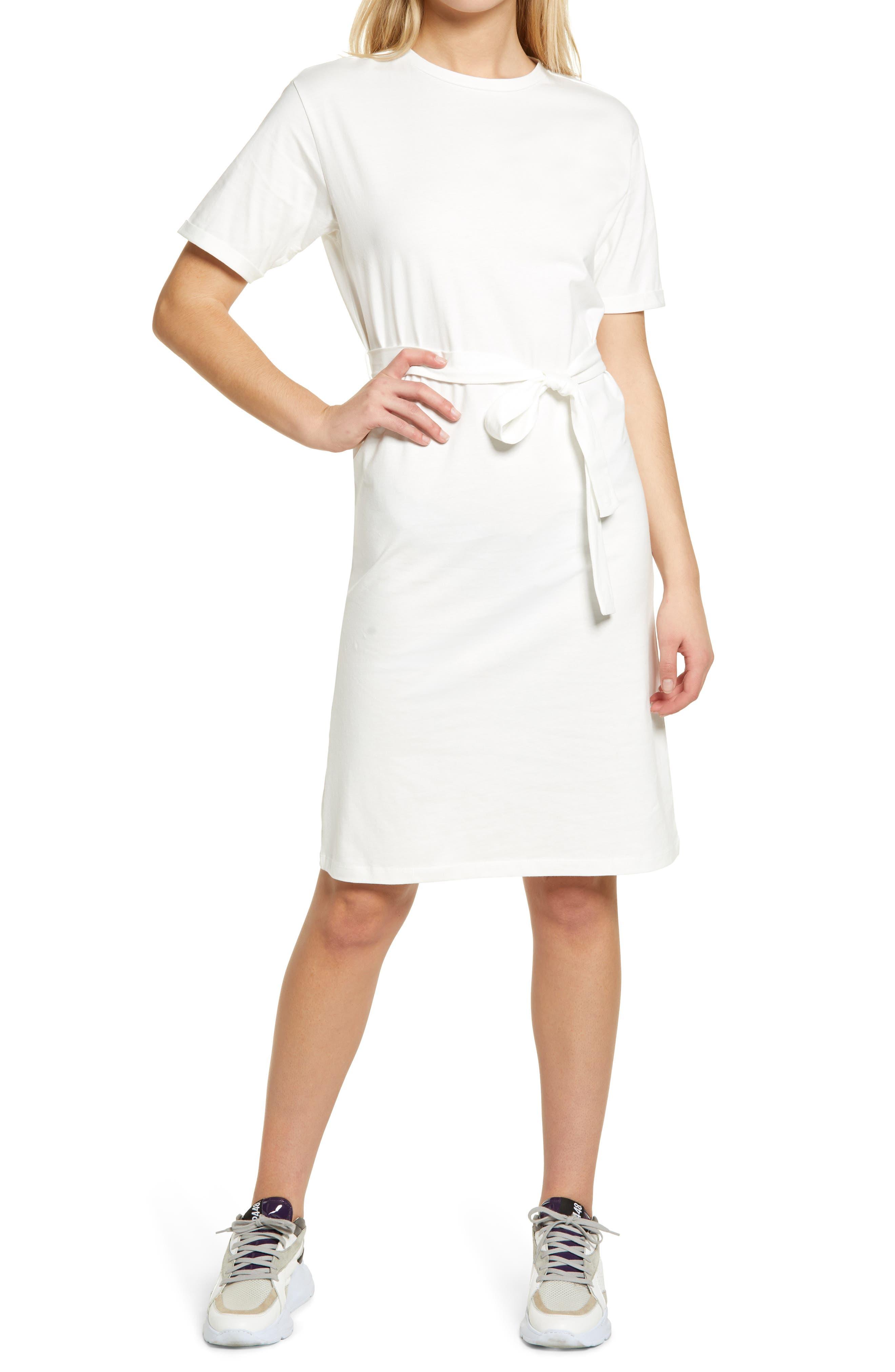 Olivia Tie Waist Organic Cotton Dress
