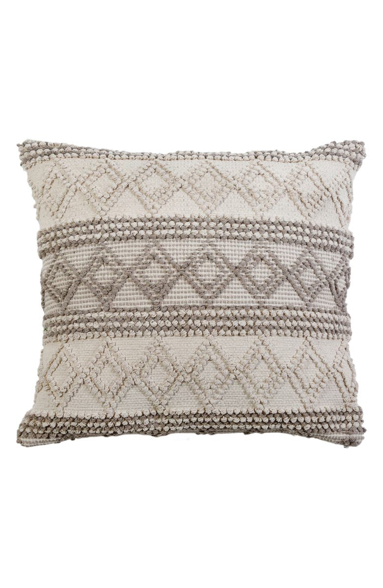 POM POM AT HOME Phoebe Accent Pillow, Main, color, IVORY/ TAUPE
