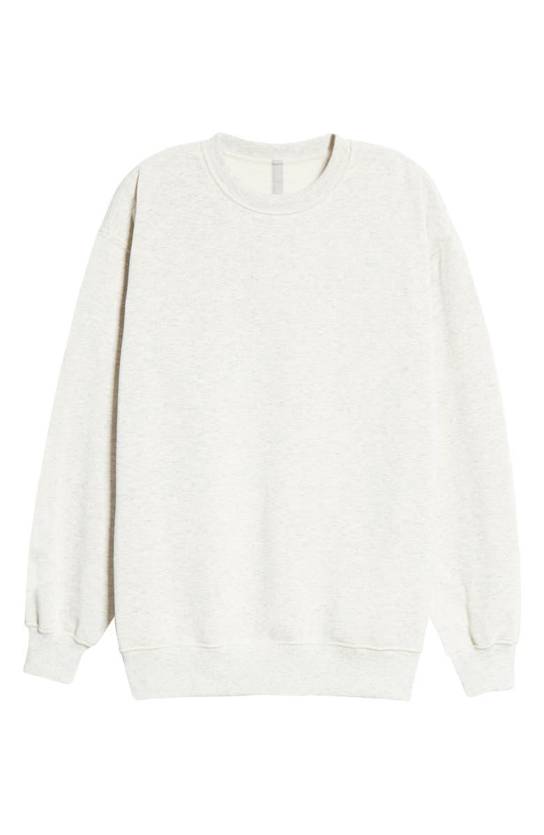 BEAMS Loose Fit Reversible Sweatshirt, Main, color, OATMEAL