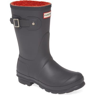 Hunter Original Insulated Short Waterproof Rain Boot, Grey