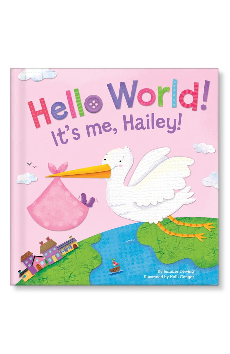 I SEE ME! 'Hello World' Personalized Book, Main, color, PINK
