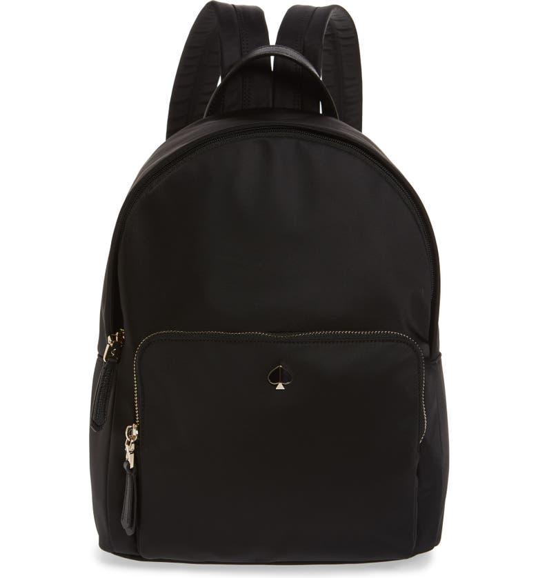 KATE SPADE NEW YORK taylor large nylon backpack, Main, color, BLACK