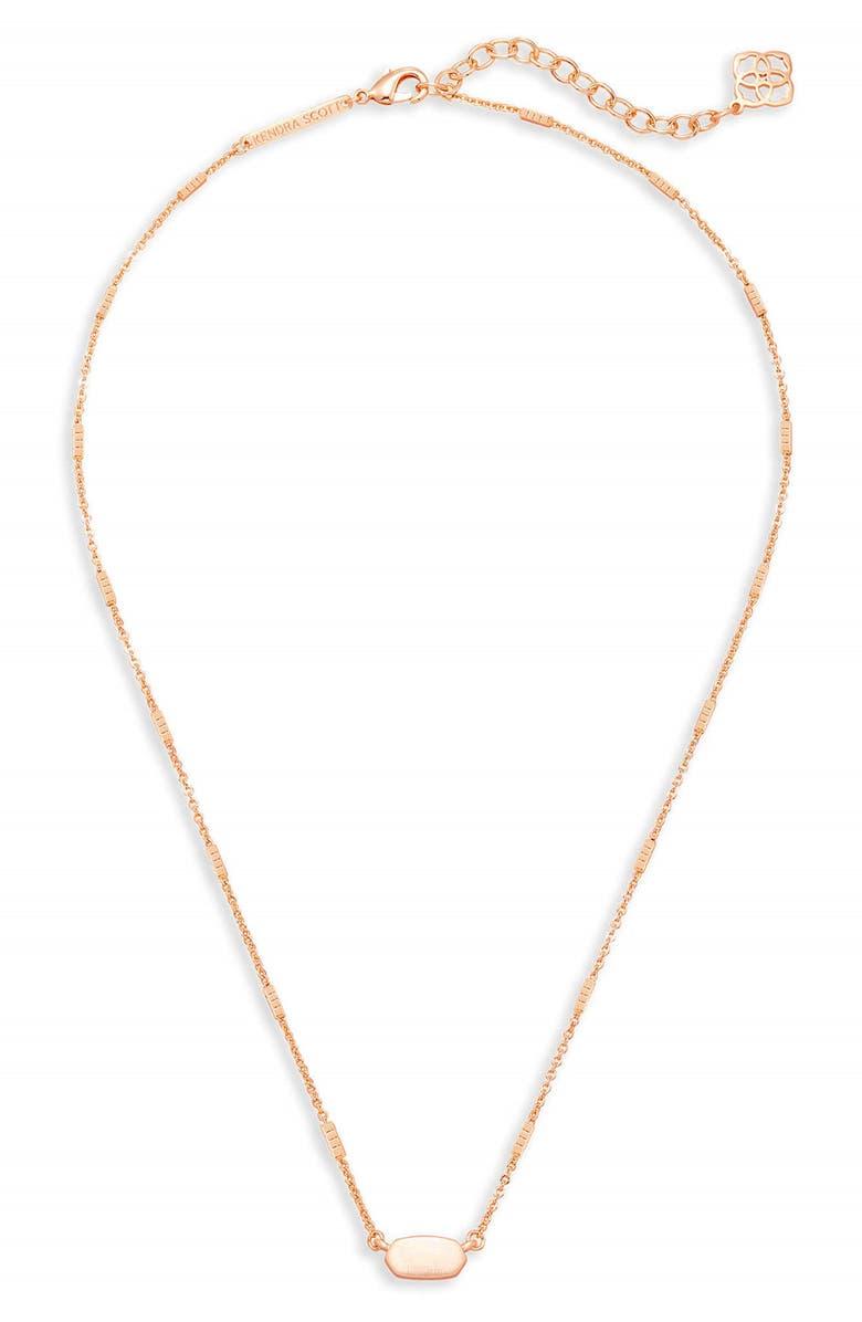 KENDRA SCOTT Fern Pendant Necklace, Main, color, ROSE GOLD