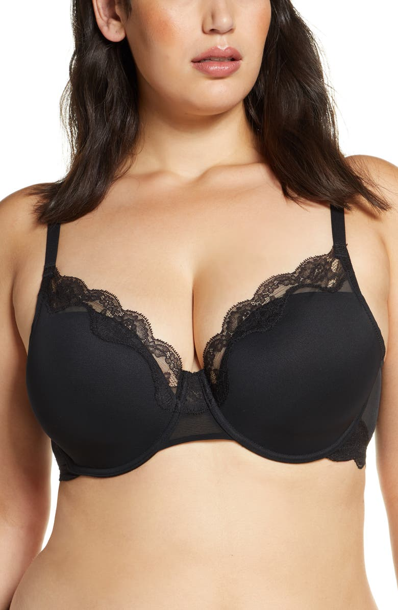 NATORI Elusive Full Fit Underwire Contour Bra, Main, color, BLACK