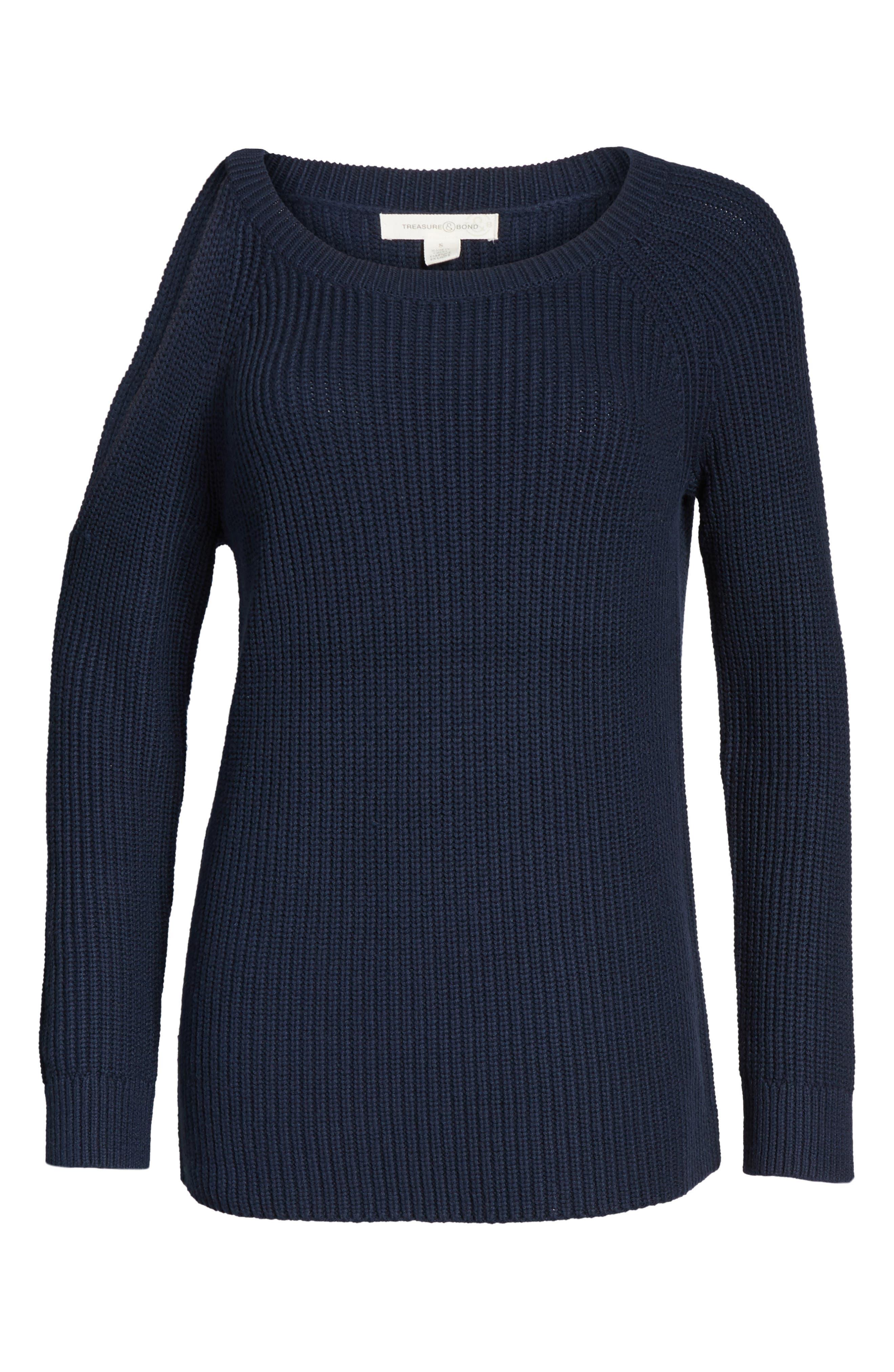 ,                             Asymmetrical Cold Shoulder Sweater,                             Alternate thumbnail 18, color,                             400