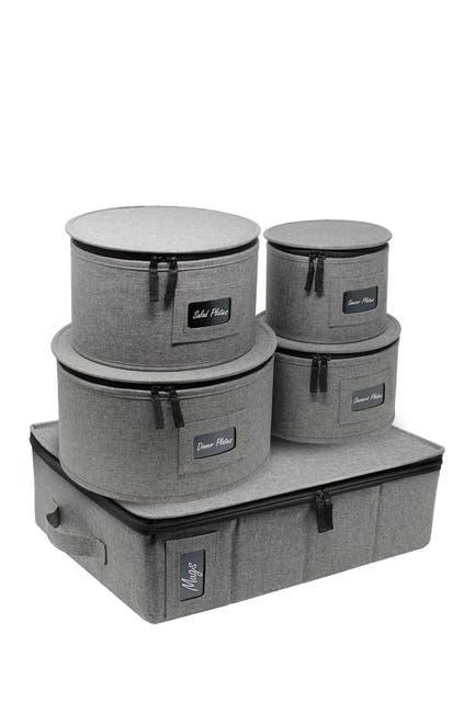 Image of Sorbus 5-Piece Dinnerware Storage Set - Grey