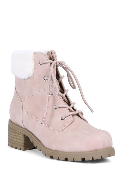 Image of DV DOLCE VITA Rei Faux Fur Lined Combat Boot