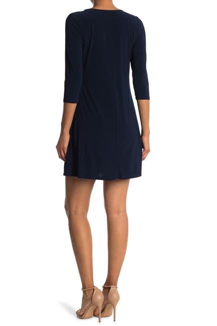 Image of TASH + SOPHIE 3/4 Sleeve A-Line Dress